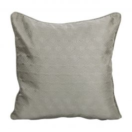 Hex Grey Small Feather Cushion