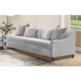 Alma Silver Sofa -3 Seater