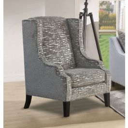 Alma Silver Accent Chair