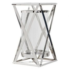 X Steel Candle Holder Large