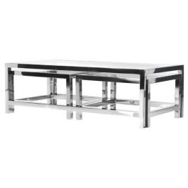 Toronto Glass and Steel Nest Tables