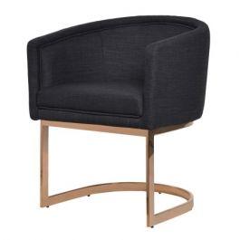 Black Dining Chair Rose Gold Frame