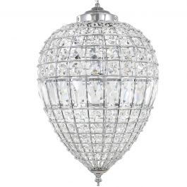 Danbury Large Crystal Ceiling Light