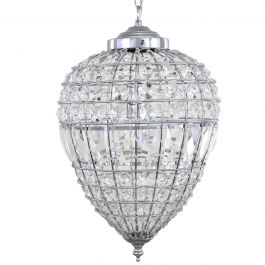 Danbury Medium Crystal Ceiling Light