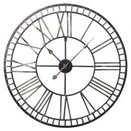 Gold Numerals Metal Clock