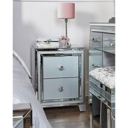 The Atlantis Grey 2 Drawer Bedside Cabinet