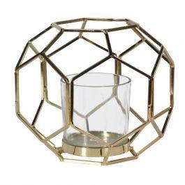 Gold Hexagon Candleholder