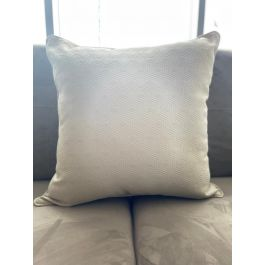 Hex Grey Large Feather Cushion