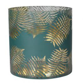 Gold Leaf Green Candleholder Large