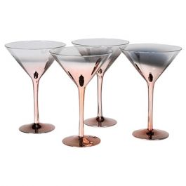 Copper Base Martini Glass Set of 4