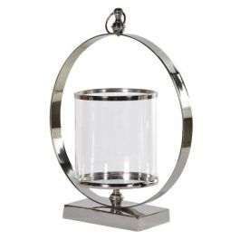 Large Metal Ring Hurricane Lamp