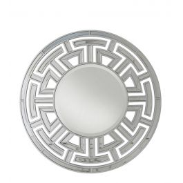Louis Round Wall Mirror Silver