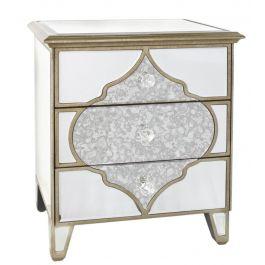 Medina Mirror 3 Drawer Bedside Cabinet