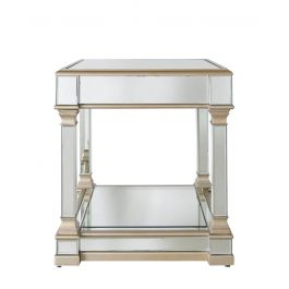 The Louis Mirror Gold End Table