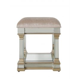 The Louis Mirror Stool Gold