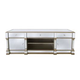 Louis Mirror Two Drawer Tv Unit Gold