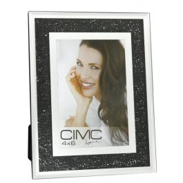 Value Diamond Crush Black Photo Frame 4in X 6in