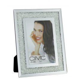 Value Diamond Crush Silver Small Photo Frame