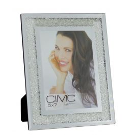 Value Diamond Crush Silver Medium Photo Frame