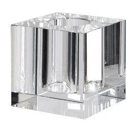 Single Stem Crystal Square Vase