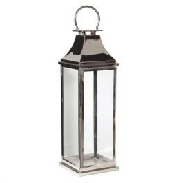 Large Chrome Standard Lantern