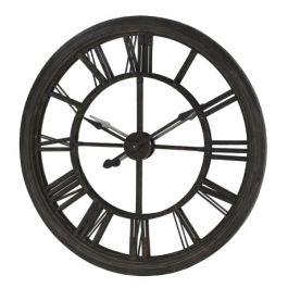 Black Round Mirror Wall Clock