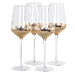 Copper White Wine Glasses Set of 4