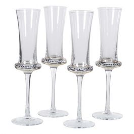 Diamante Shaped Flute Glass Set