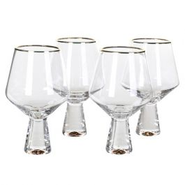 Gold Rim Wine Glass Set