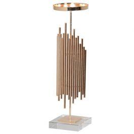 Crystal Based Gold Candleholder