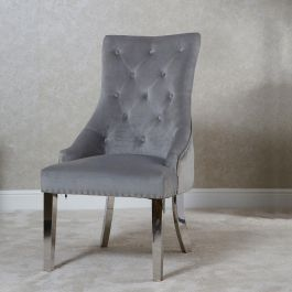 Megan Knocker Back Dining Chair Silver