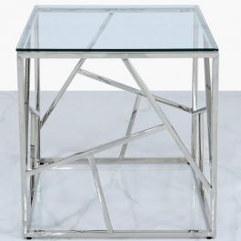 Luna Stainless Steel Metal End Table