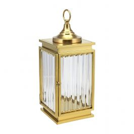 Gold Glass Lantern - Medium