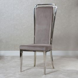 Lily Chrome Mink Dining Chair