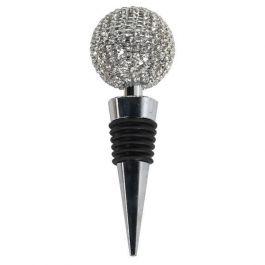 Silver Diamante Bottle Stopper