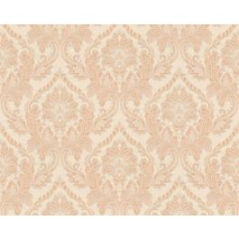 Di Seta Wallpaper Deco Beige & Orange
