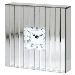Silver Mirror Wall Clock