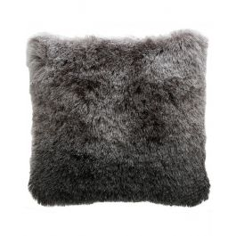 Fluffy Charcoal Silver Ombre Cushion 45X45