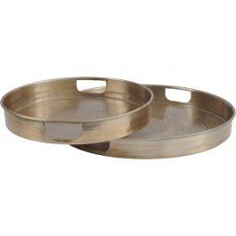 Metal Gold Trays Set of 2