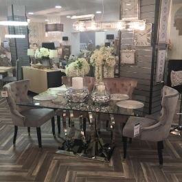 Amelia Dining Table And 6 Camilla Chairs