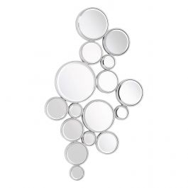 Bubble Wall Mirror Silver