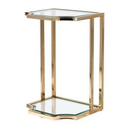 Gold Glass Sofa Table