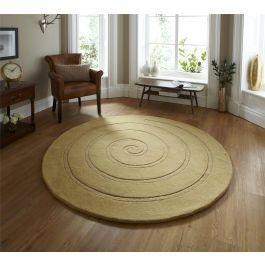 Spiral Gold Rug 180 x 180