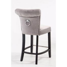 Bar Stool Knocker Back Silver
