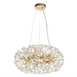Bessemer Pendant 20 Light French Gold/Crystal