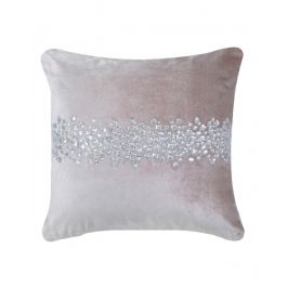 Gem Stone Pink Velvet Cushion 45x45