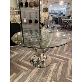 Oxford Round Clear Glass 130cm Dining Table