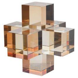 Amber Crystal Cubes Ornament