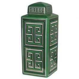 Green Gold Art Jar