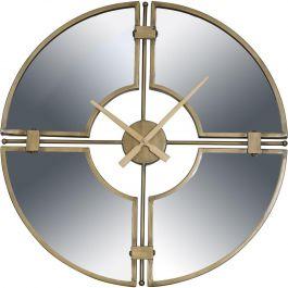 Destiny Gold Round Mirrored Wall Clock